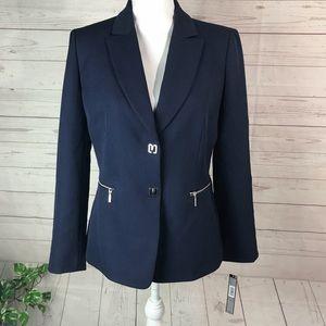 TAHARI Jacket blazer navy size 6P